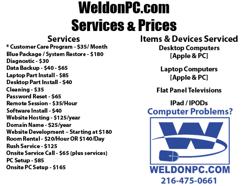 Prices & Services copy
